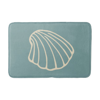Summer Beach Seashell Sea Bathroom Rug Bath Mat
