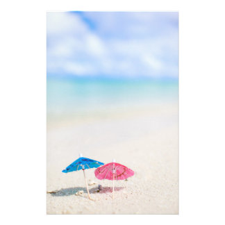 Summer beach stationery