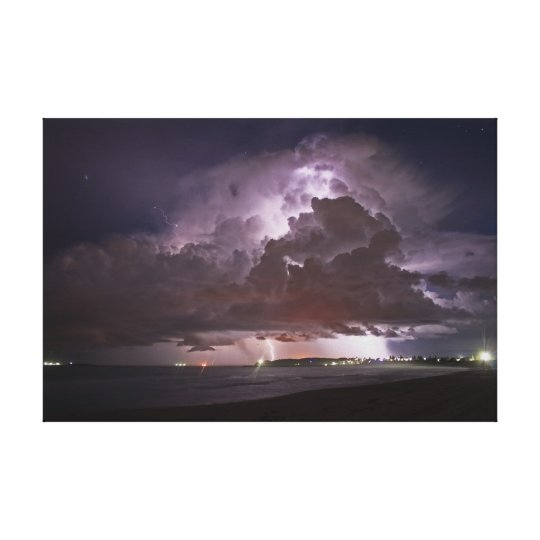 Summer beach Storm Canvas Print