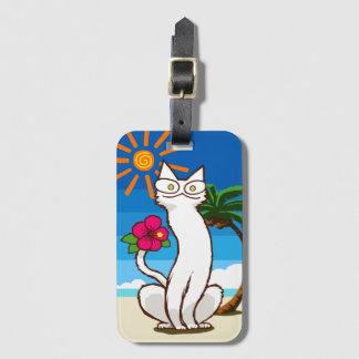 Summer Beach Tropical Cat Bag Tag