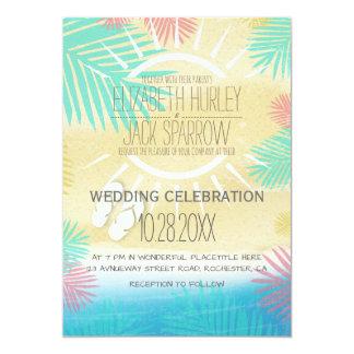 Summer Beach Wedding Invitations