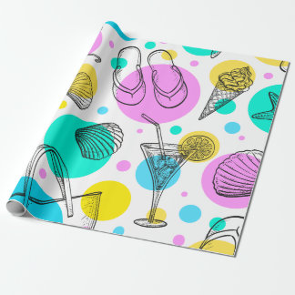 Summer Beach Wrapping Paper