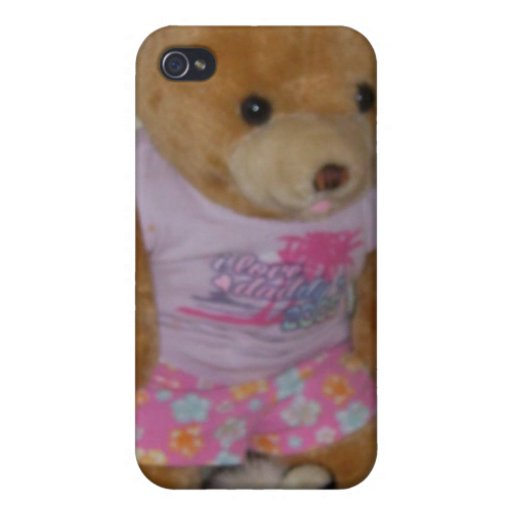 """""""Summer Bear in Tiger Shoes"""" CricketDiane Covers For iPhone 4"""