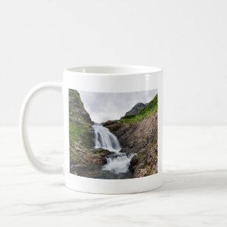 Summer beautiful landscape - mountain waterfall coffee mug