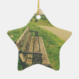 Summer Bench Christmas Ornament