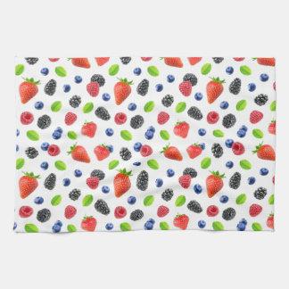 Summer berries tea towel