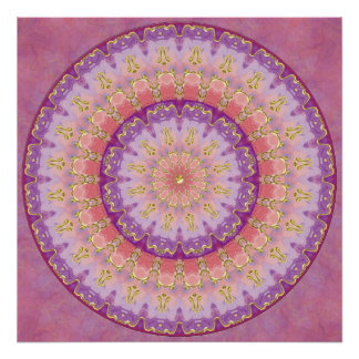 Summer Berry Mandala Poster