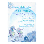 Summer Birthday Pool Party Invitations