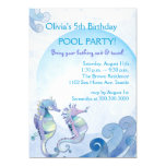 Summer Birthday Pool Party Invitations 13 Cm X 18 Cm Invitation Card