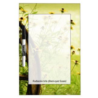 Summer Black-Eyed Susan and Wagon Wheel Photo Dry-Erase Whiteboard