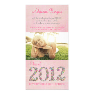 Summer Blossoms Class of 2012 Graduation PhotoCard Customised Photo Card
