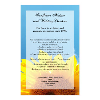 Summer Blue Sky with Yellow Sunflower Flyer Design