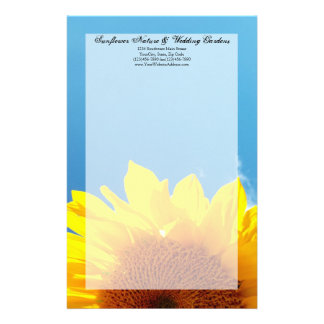 Summer Blue Sky with Yellow Sunflower Personalised Stationery