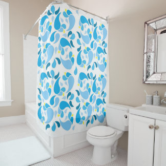 Summer Blues Shower Curtain