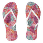 Summer bouquet flip flops