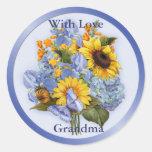 Summer Bouquet - Grandma Round Sticker