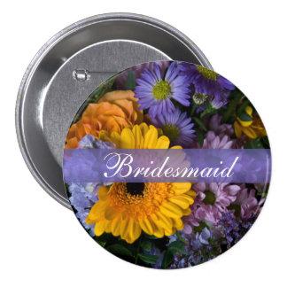 Summer Bouquet • Wedding Button