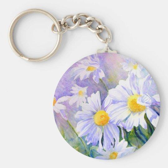 Summer Breeze Basic Round Button Key Ring