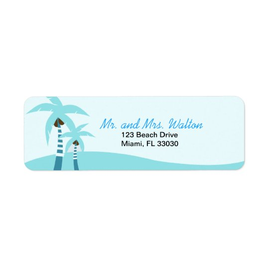 Summer Breeze Palm Trees Return Address Label