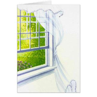 summer breeze watercolor card