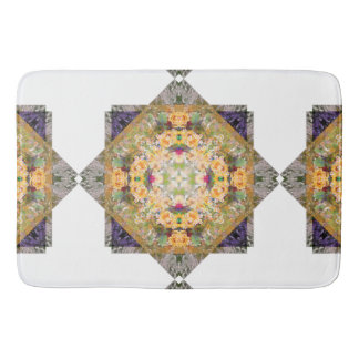 Summer Bridal Bouquet Mandala Bathmat Bath Mats
