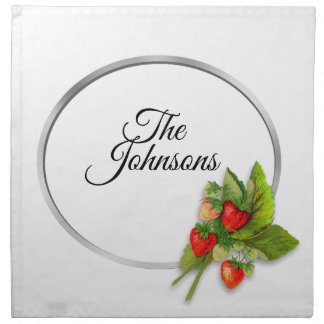 Summer Bright Strawberries Napkin