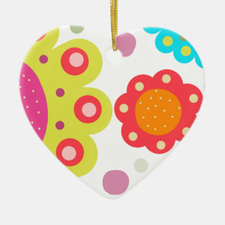 Summer Brights Ceramic Heart Decoration