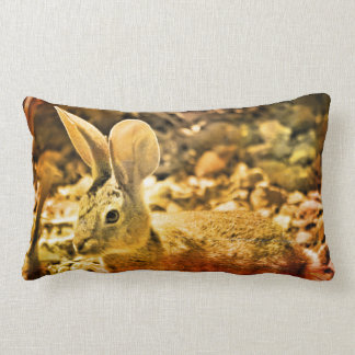 Summer Bunny Accent Lumbar Pillow