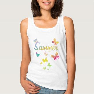 Summer butterflies tank top