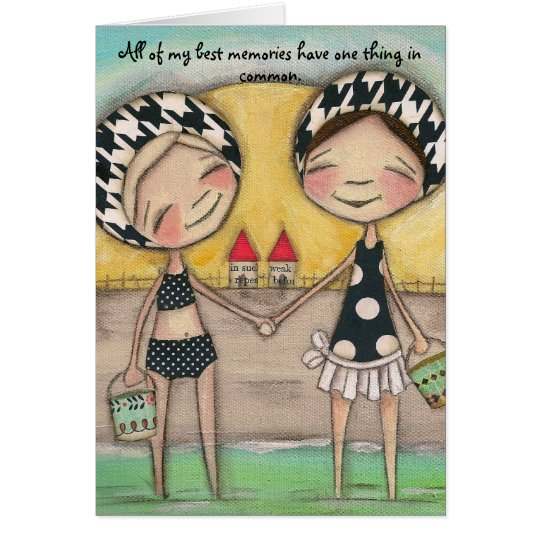 Summer by the Shore - Greeting Card