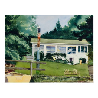 Summer Cabin - Suquamish Washington Postcard