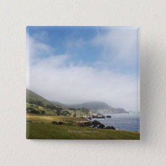 Summer california road trip on highway 1 along 15 cm square badge