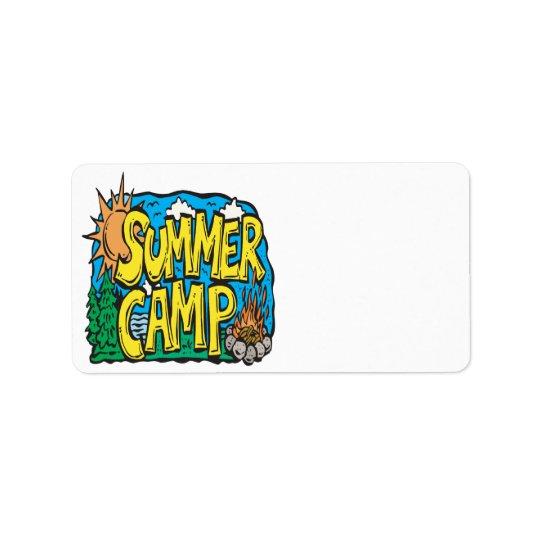 Summer Camp Address Label