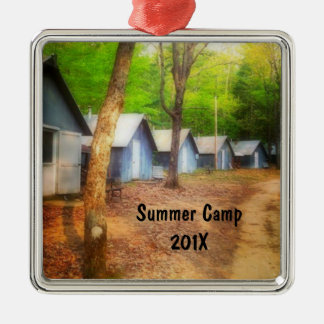 Summer Camp Cabins Christmas Ornament