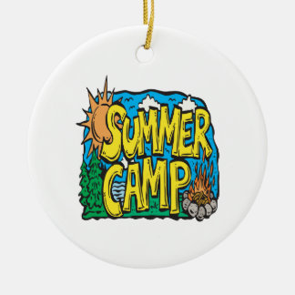 Summer Camp Christmas Ornament