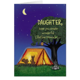 Summer Camp - Miss you - Daughter Greeting Card