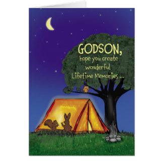 Summer Camp - Miss you - Godson Greeting Card