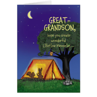 Summer Camp - Miss you- Great Grandson Greeting Card