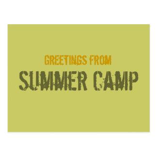 Summer Camp Postcard