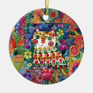 Summer cat christmas ornament