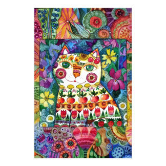 Summer cat stationery paper
