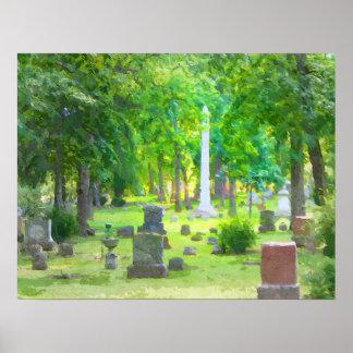 Summer Cemetery Poster