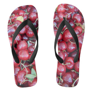 Summer Cherries Flip Flops