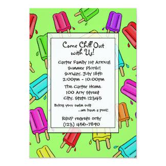 Summer Chill Pops/ All Occasion 13 Cm X 18 Cm Invitation Card