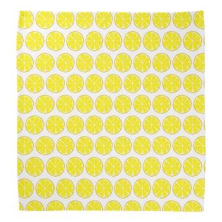 Summer Citrus Lemon Bandanna