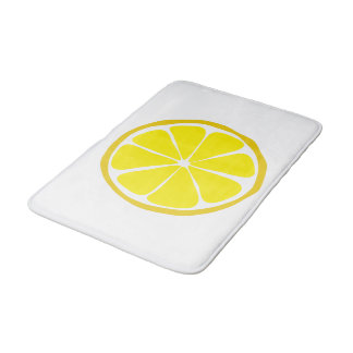 Summer Citrus Lemon Bathmat Bath Mats