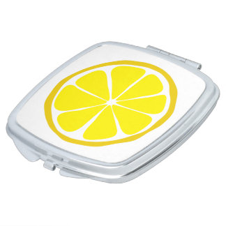 Summer Citrus Lemon Compact Mirror