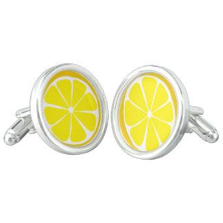 Summer Citrus Lemon Cufflinks
