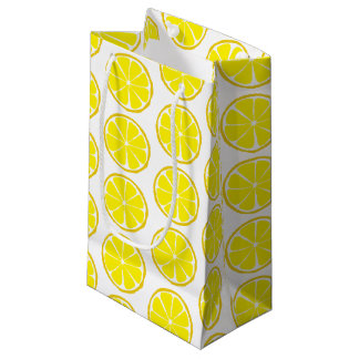 Summer Citrus Lemon Gift Bag - SM/MED/WINE