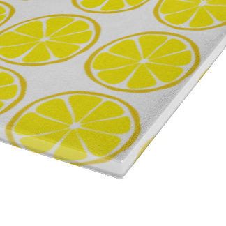 Summer Citrus Lemon Glass Cutting Board
